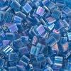 Miyuki Tila Bead 5X5mm 2 Hole Sapphire Transparent Aurora Borealis